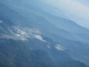 view of Sri Lanka from the plane during my visit there in 2006