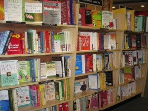 Book shelf in a book store- making it as neat as the bookstore