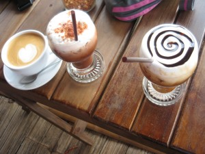 delicious coffee served in Sweet Mae Salong cafe, Northern Thailand