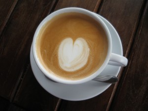 the heart shaped latte that I was telling you about :)