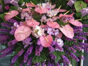 Romantic flower arrangement sold in Chiang Mai flower market