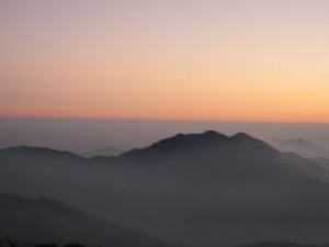 Beautiful sunset at Doi Inthanond, Chiang Mai