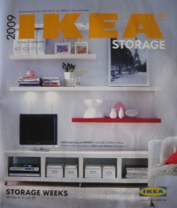 Storage catalogue from Ikea