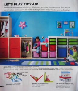 Ikea shows how you can organise the children's playroom and toys.