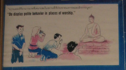 Do and Don'ts in Thailand- display polite behaviour