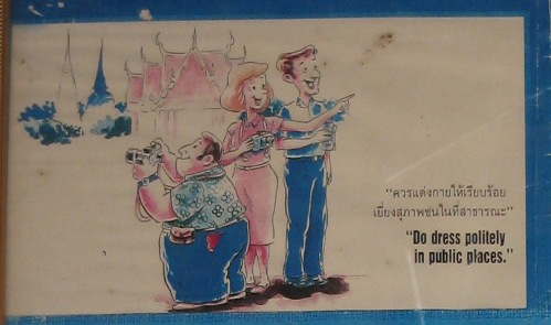 Do and don'ts in Thailand- dress politely