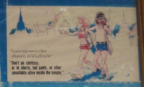 Do and don't in Thailand- dress politely