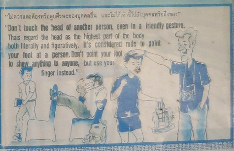 Do and Don'ts in Thailand- no touching a person's head