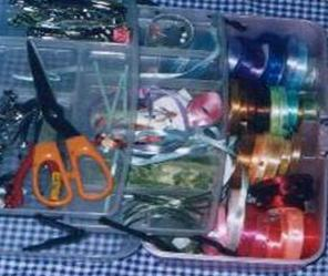 I keep my ribbons in order with a simple portable tool box