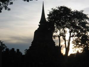 Sunset taken at Sukhothai, an anciet heritage site in Thailand
